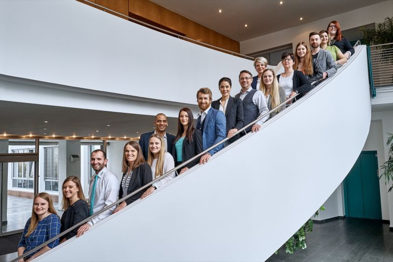 Here you see a photo of all of the ARWA employees from the headquarters in Nieder-Olm